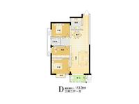 中央广场113平豪华装修两房,户型好,性价比高,诚心出售