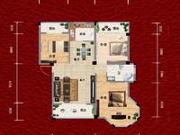 凤凰城花园毛坯多层大三房急售,高档小区框架房,南北通透户型好!