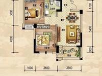 绿洲桂花城毛坯2房,房东急需资金,66万总价,单价7000多,采光极好,性价比高