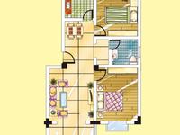 清溪家园二室二厅44万出售,新房型南北通透价格优惠,送储藏室。